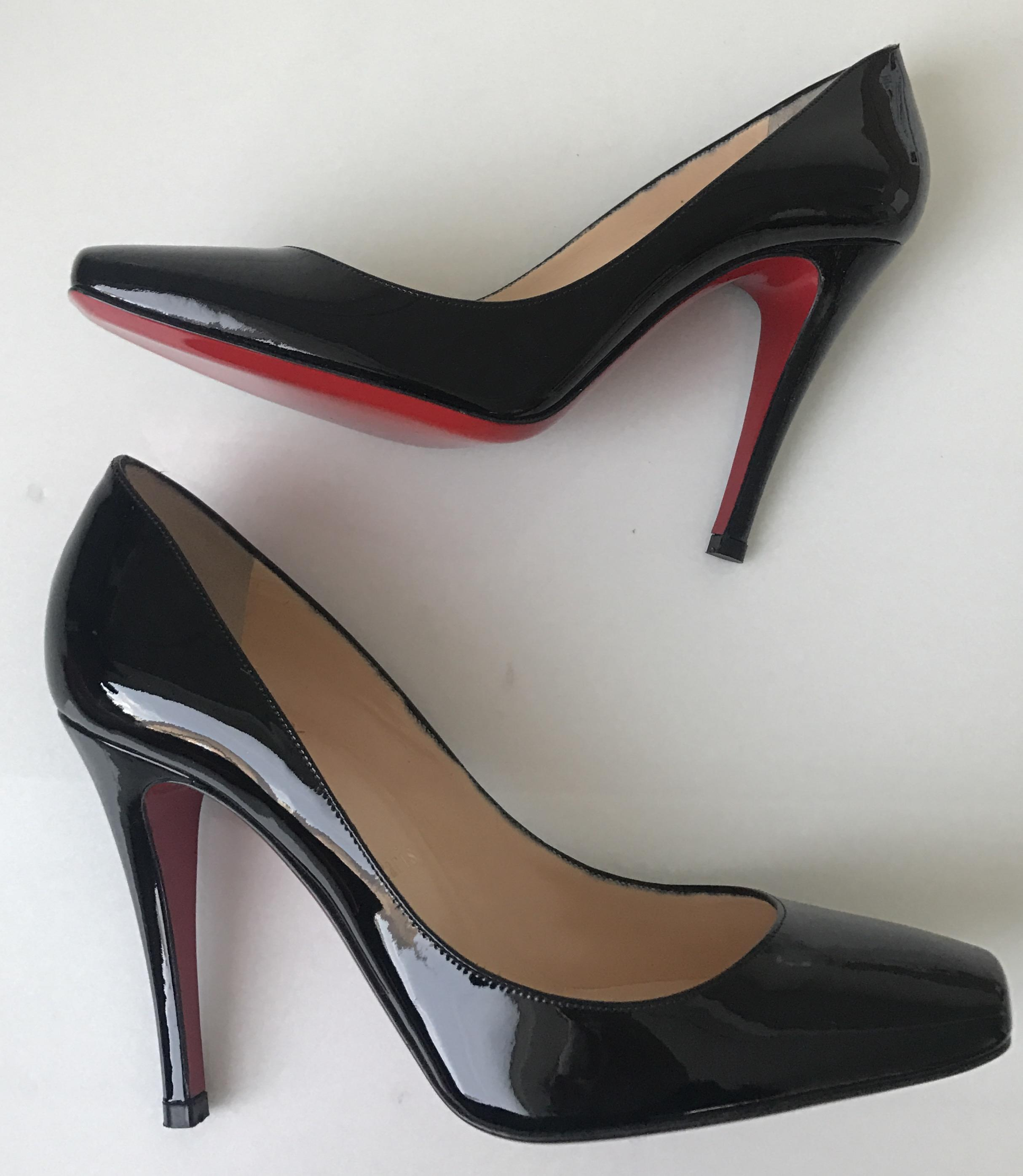 sale newest for sale cheap price from china Christian Louboutin Particule 100 Patent Leather Pumps fFHRB