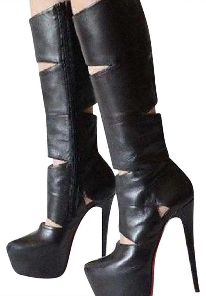 Christian Louboutin Black Cut Out Boots/Booties Size US 8 Regular (M, B)