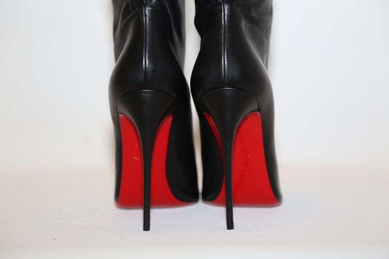 a5fb47a4dbd9 ... Christian Louboutin Louboutin Louboutin Black Ishtar Leather Pointy Toe  Ankle Boots Booties Size US 9 ...
