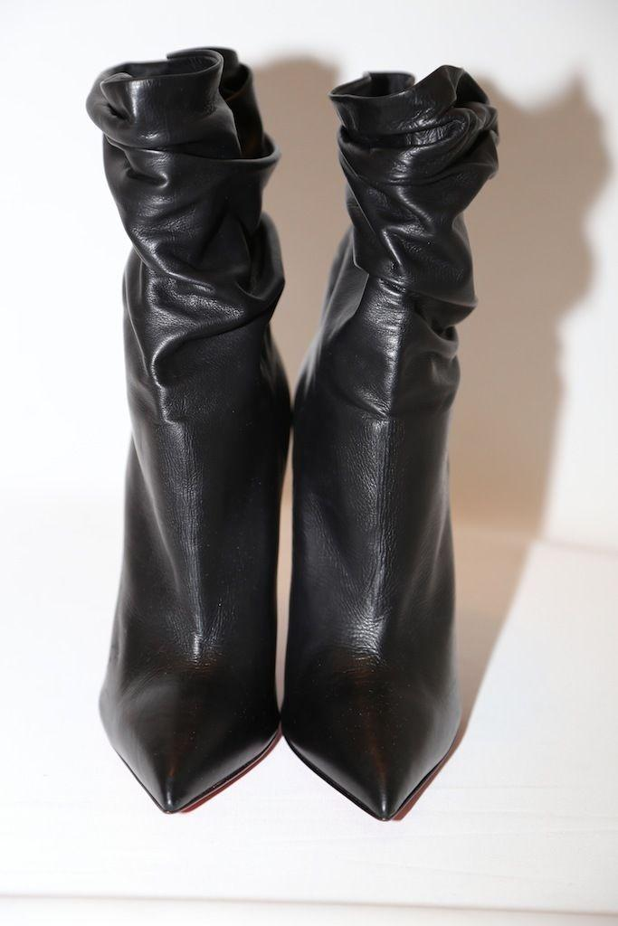 d36de6e1edf1 ... Christian Louboutin Black Ishtar Leather Pointy Toe Ankle Boots Booties  Size Size Size US 9 ...