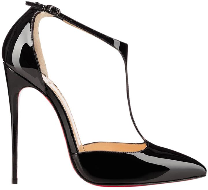 141cd5c76fc5 ... get christian louboutin heels j string t strap patent leather black  pumps 5bdf2 6390c