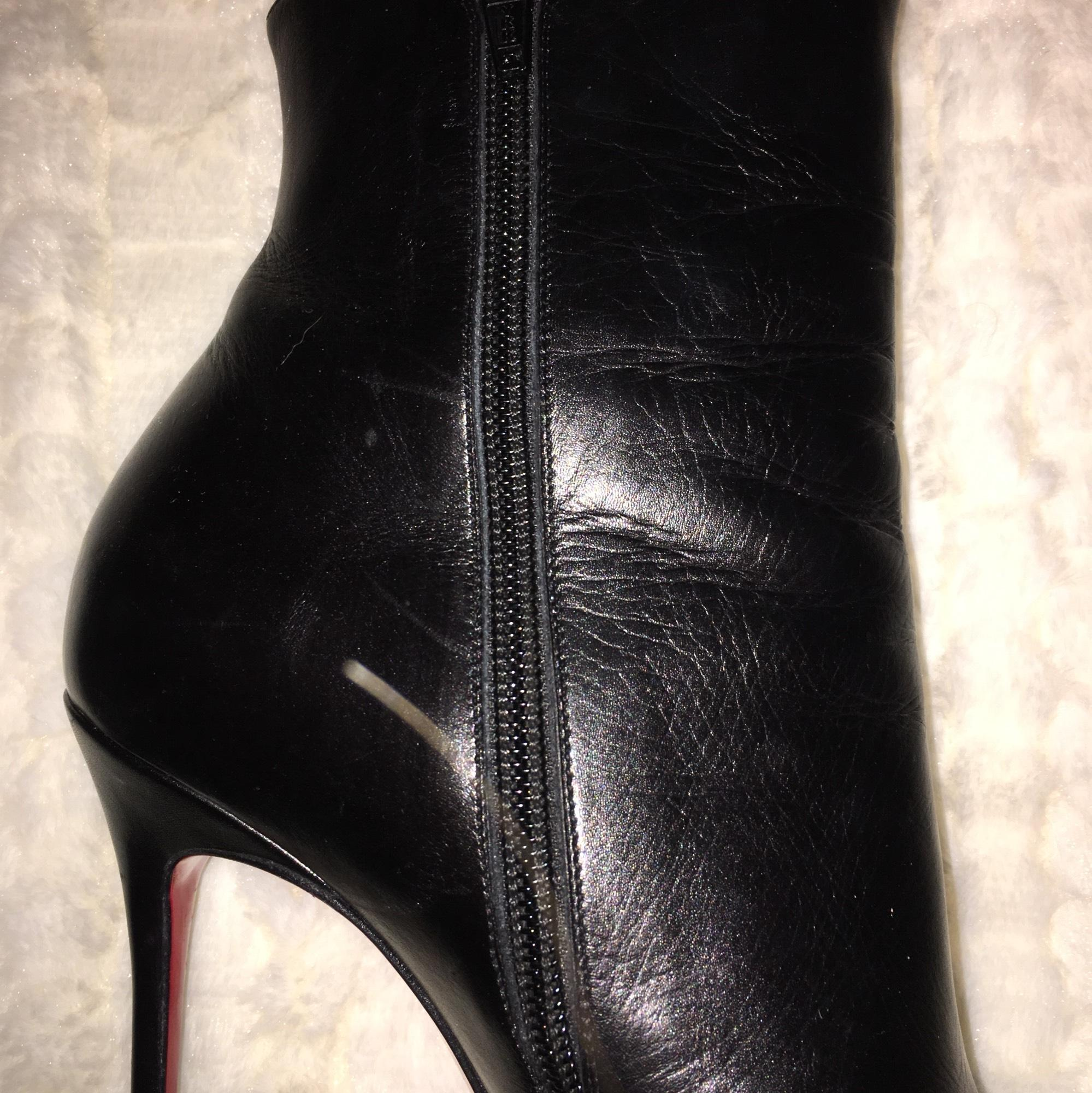 1c6a26a429d ... Christian Louboutin Louboutin Louboutin Black Kid Leather So Kate Boots Booties  Size US 7.5 Regular ...