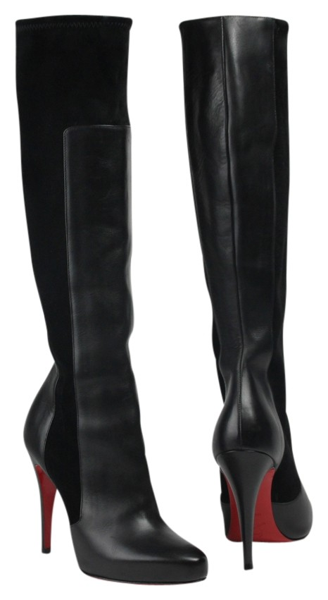 Christian Louboutin Black Knee High Heel Boots/Booties Size US 9.5 Regular (M, B)