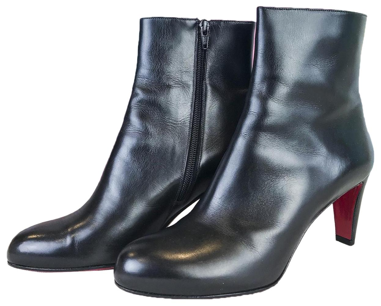 Christian Louboutin Black Leather Top 70 Ankle Boots/Booties Size EU 38.5 (Approx. US 8.5) Regular (M, B)