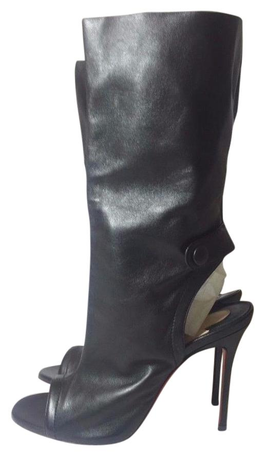 Christian Louboutin Black Mistinguetre 100 Nappa Leather Euro 36.5 / Boots/Booties Size US 6.5