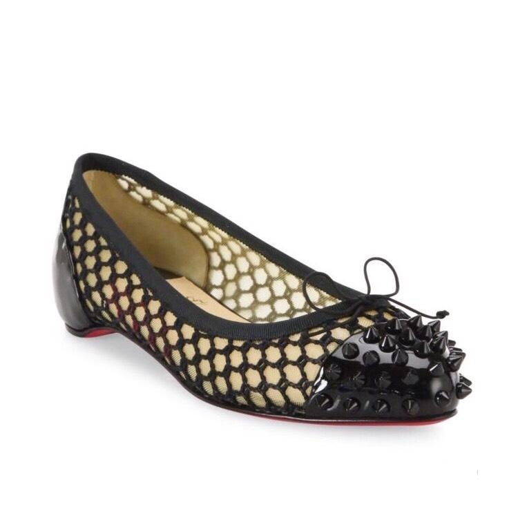 Christian Louboutin Patent pointed-Toe Flats free shipping cheapest price visit online kOc5qmq