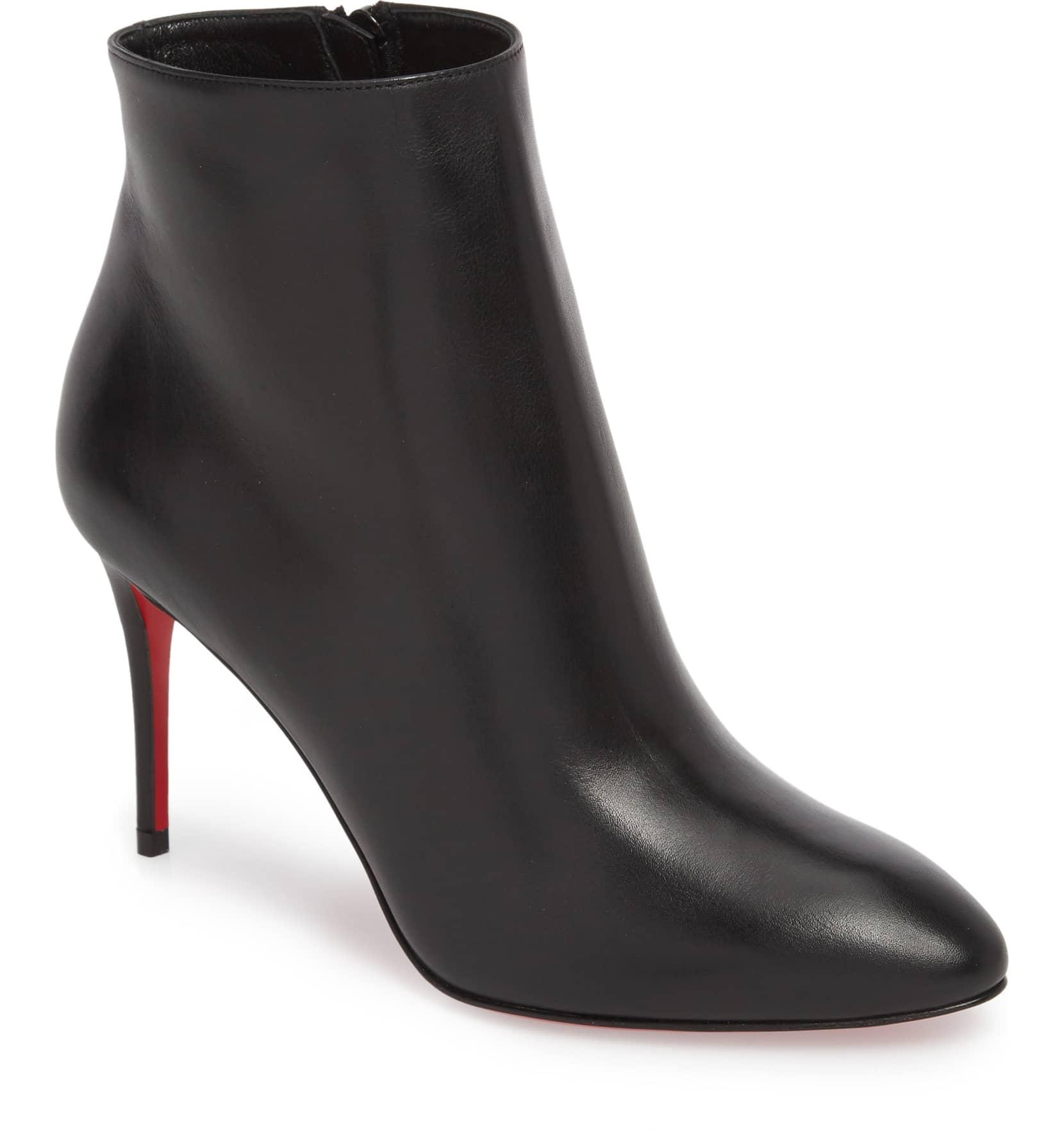 62df64e2b3cf Christian Louboutin Black New Eloise 100 Pointy Calfskin 40 40 40  Boots Booties Size US ...