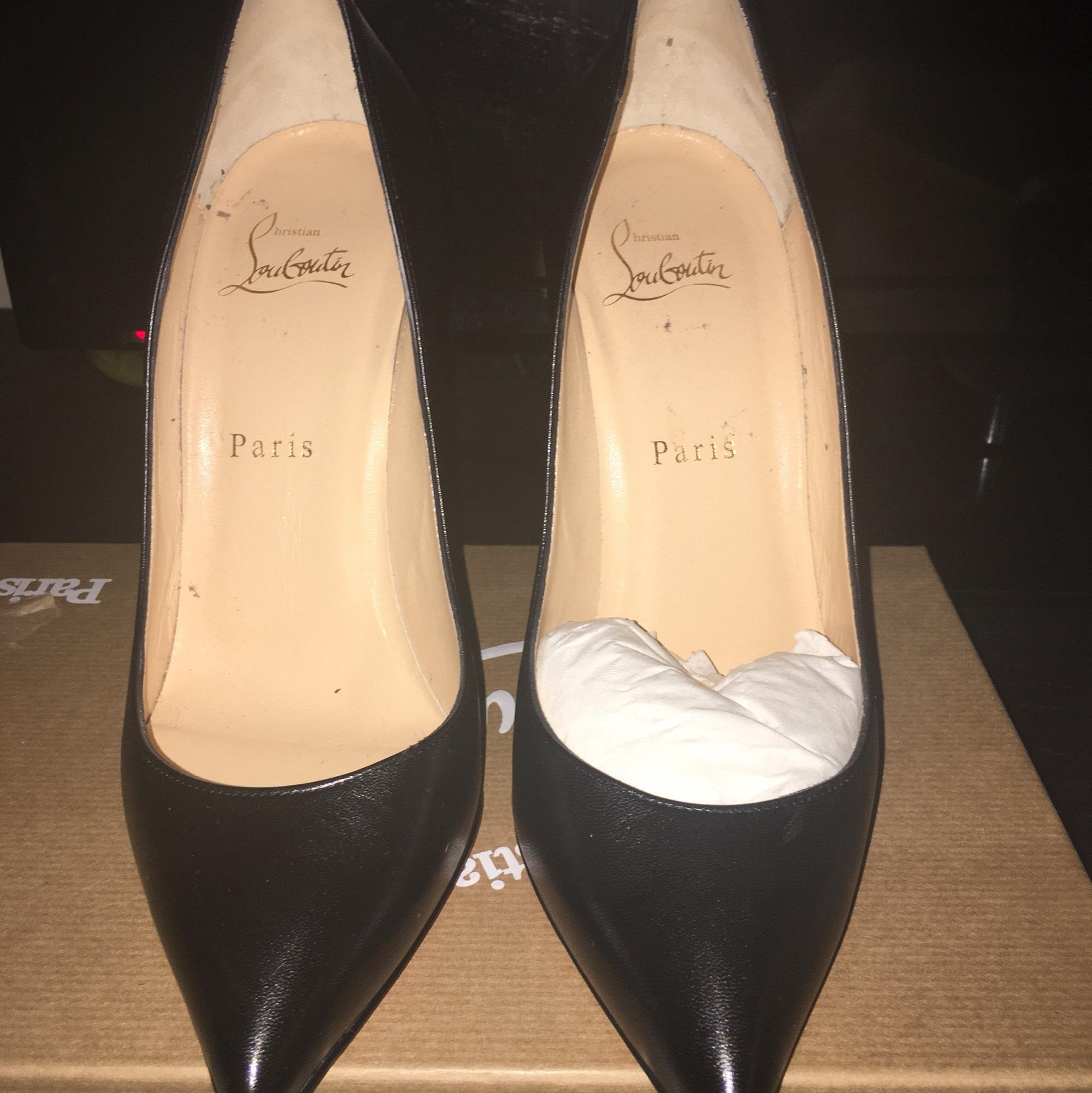 1f8a2ed0ee90 ... Christian Louboutin Black Pigalle Follies 100 100 100 Mm Pumps Size US  7.5 Regular (M ...