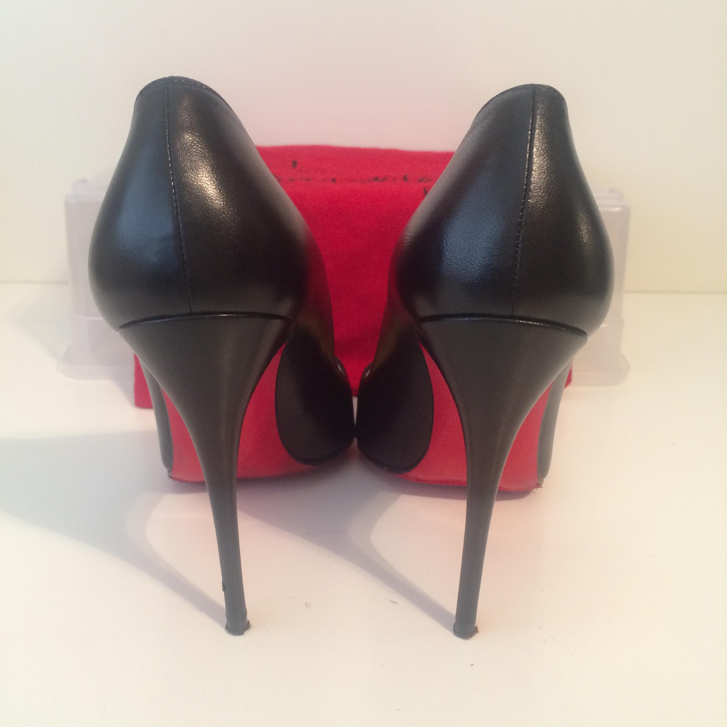 3400b0791a67 ... Christian Louboutin Black Pigalle Follies Leather Eu 38 - - - 8 Pumps  Size US 7.5 ...