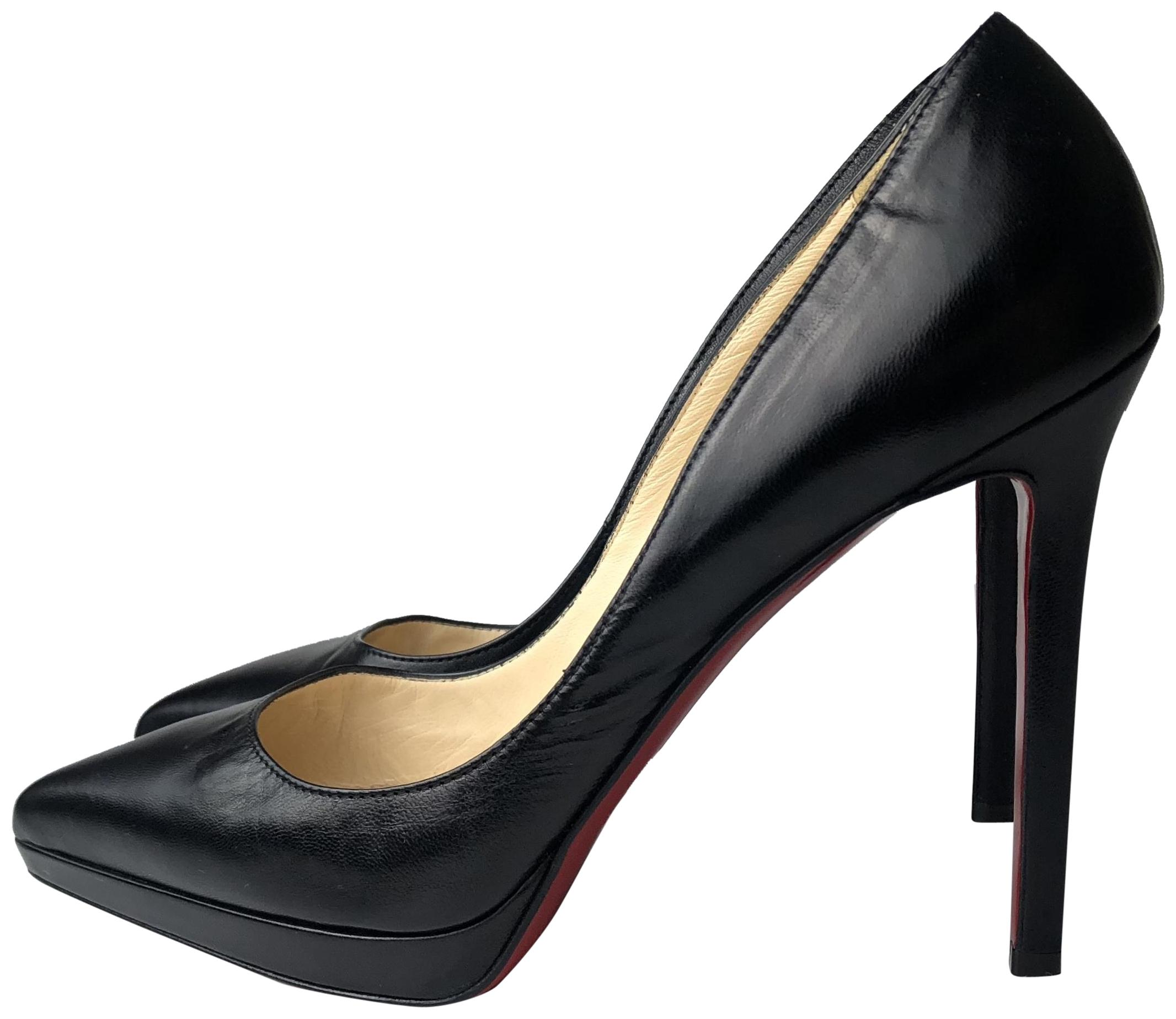 d60c280bed50 Christian Louboutin Louboutin Louboutin Black Pigalle Plato 120 Leather  Heels Pumps Size EU 38.5 (Approx