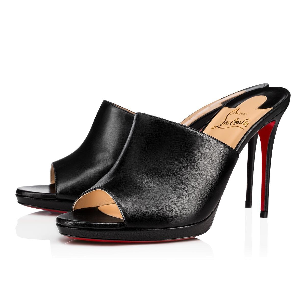 f265bf7cdae8a4 Christian Louboutin Black Pigamule 100 Pigalle Backless Backless Backless  Sandal Slide Stiletto Mule Heel Pumps Size EU 39 (Approx. US 9) Regular (M