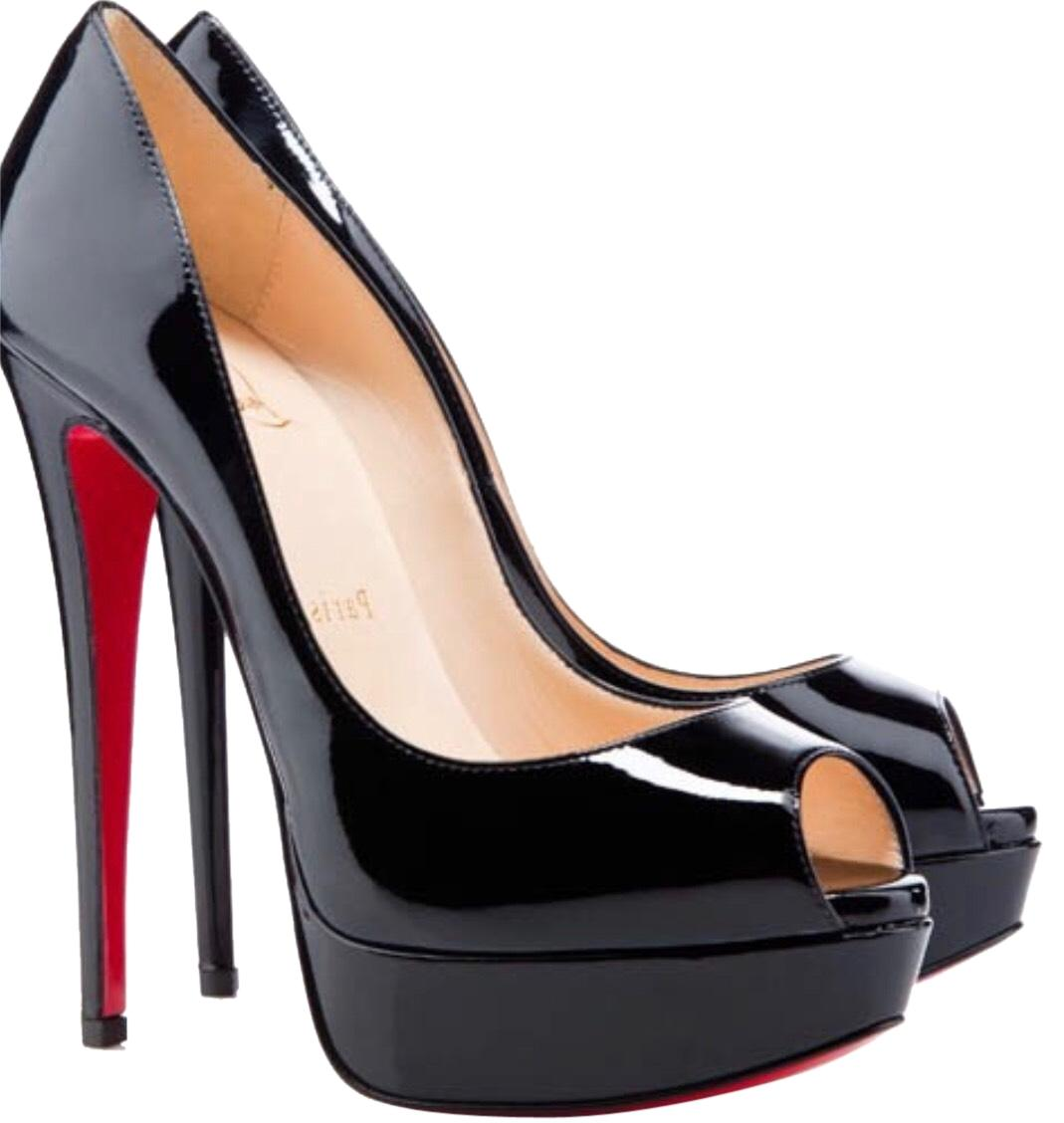 Christian Louboutin Black Platforms Size EU 39 (Approx. US 9) Regular (M, B)