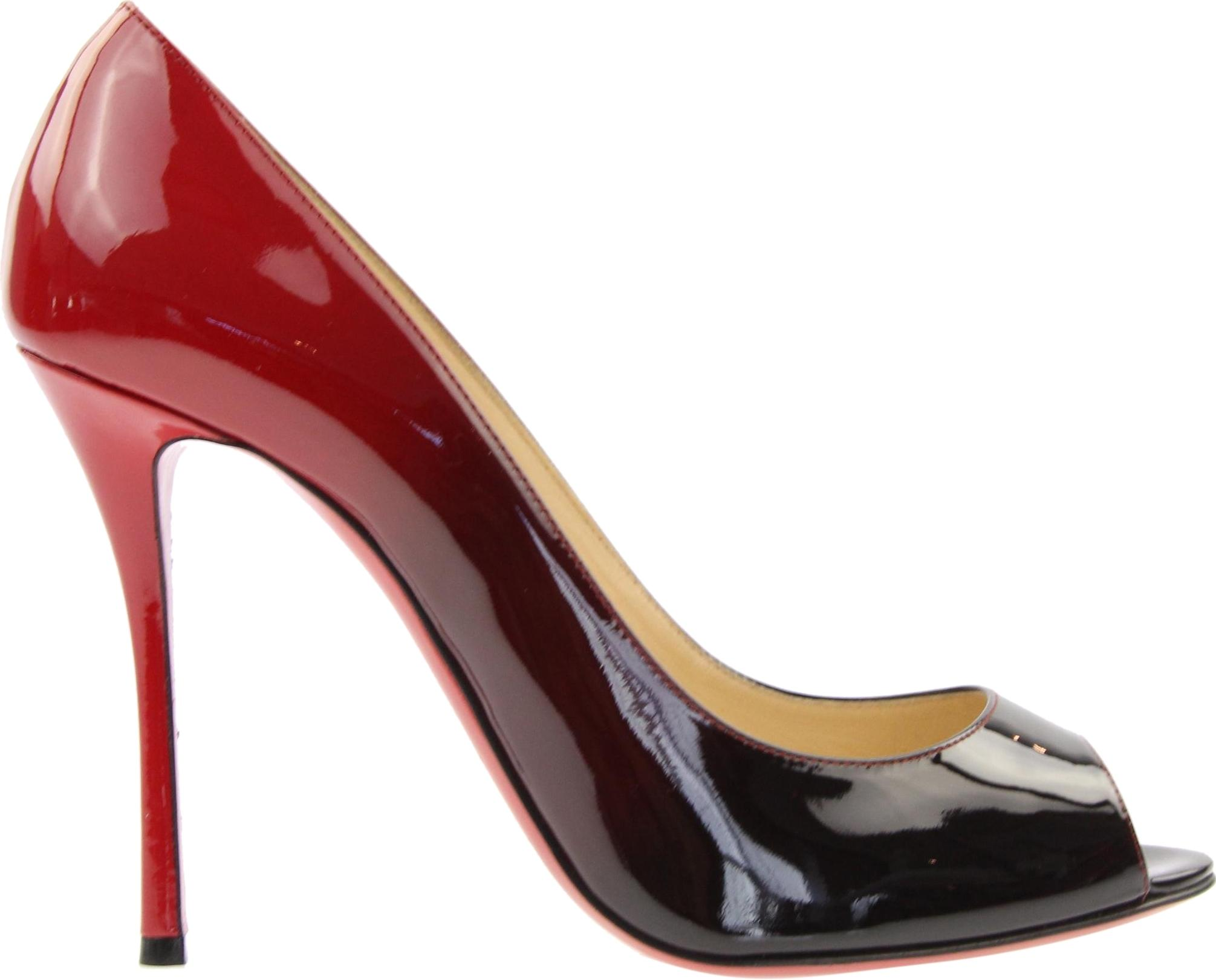 a10b112175b ... low cost christian louboutin degrade yootish sexy ombre black red pumps  4e063 326ee