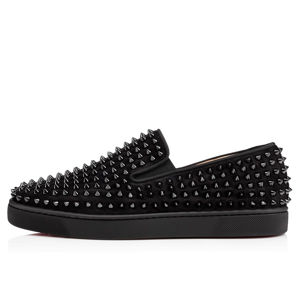 4c98b074aa92 ... amazon christian louboutin roller boat spike flat trainer black  athletic. 123456789101112 eed1e 89d29