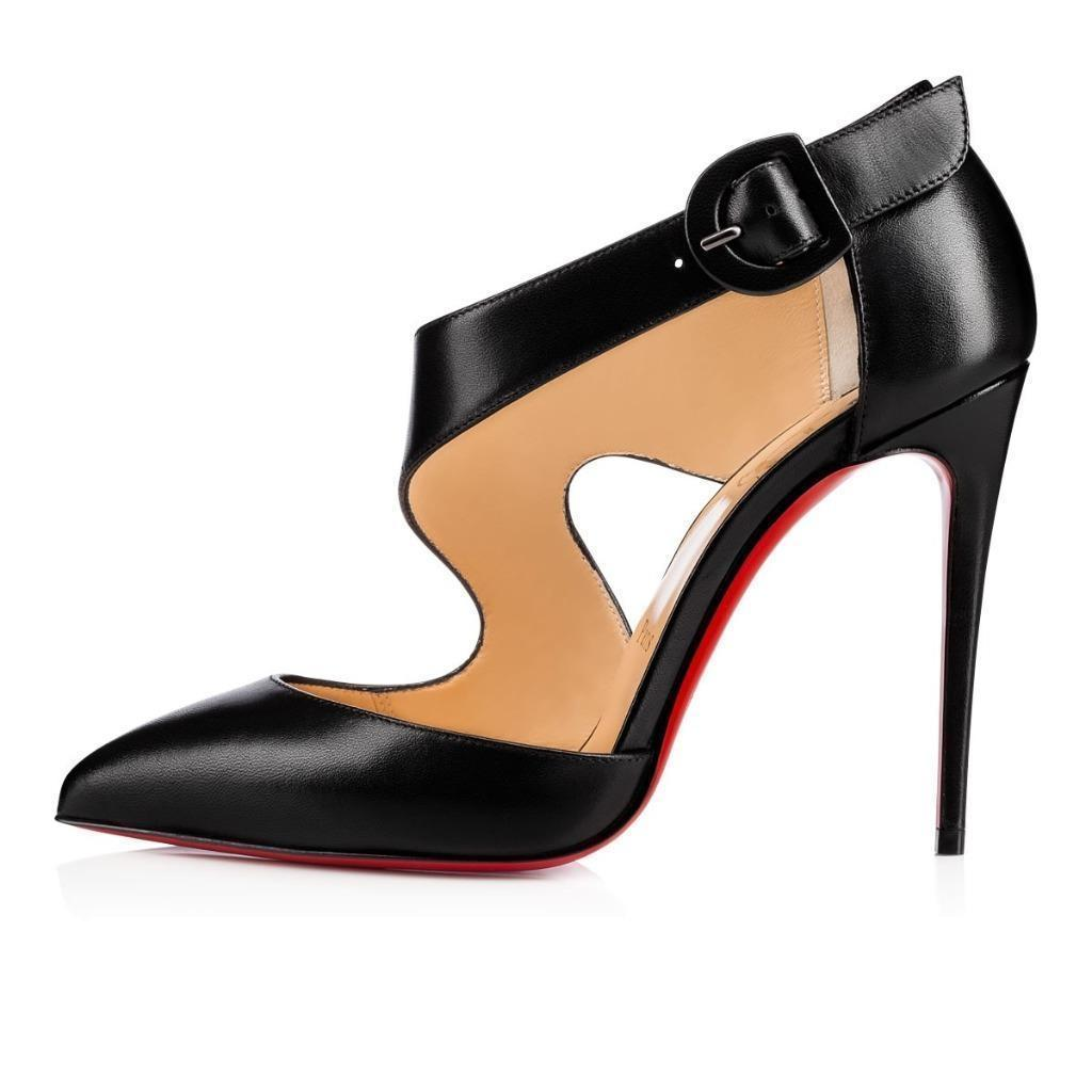 4843e1181e13 ... amazon christian louboutin sharpeta cutout pumps heels black sandals  541d0 dca09