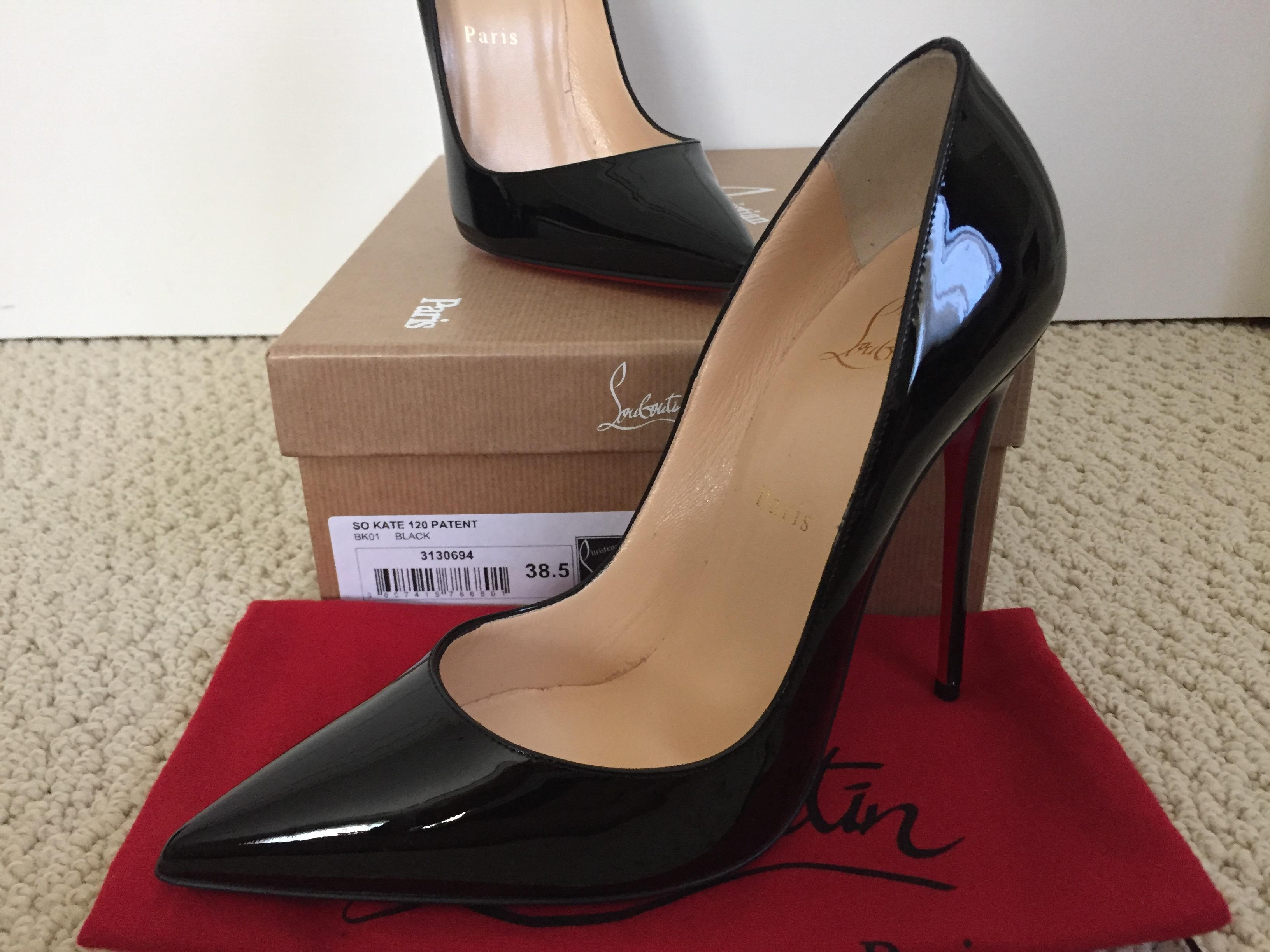 bc90daa173c5 ... Christian Louboutin Black So Kate Patent Leather Pointed Pumps Pumps  Pumps Size US 8.5 cd0745 ...