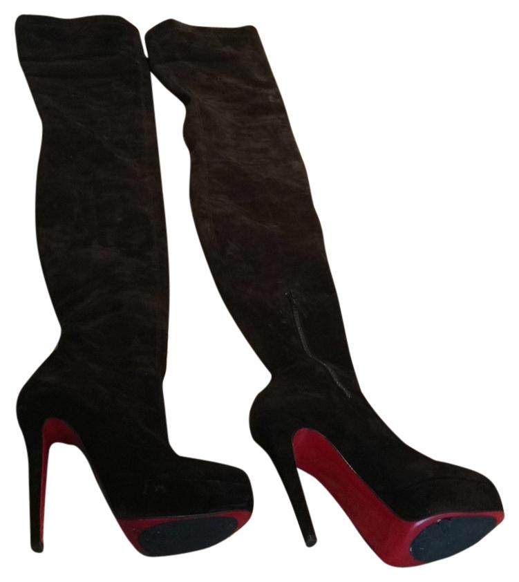 Christian Louboutin Black Suede Boots/Booties Size US 5.5 Regular (M, B)