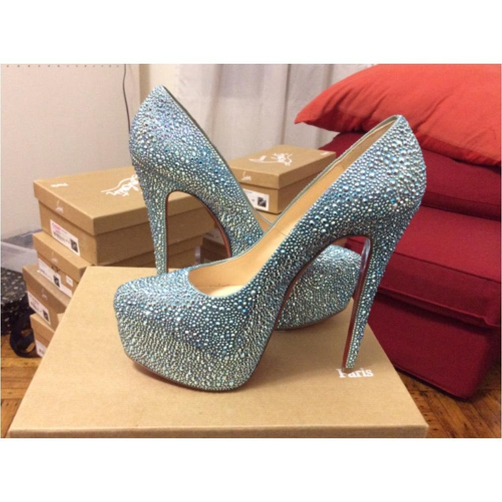 best sneakers 06101 a8fac sale louboutin daffodile strass pumps jobs 3d4d5 ddf53