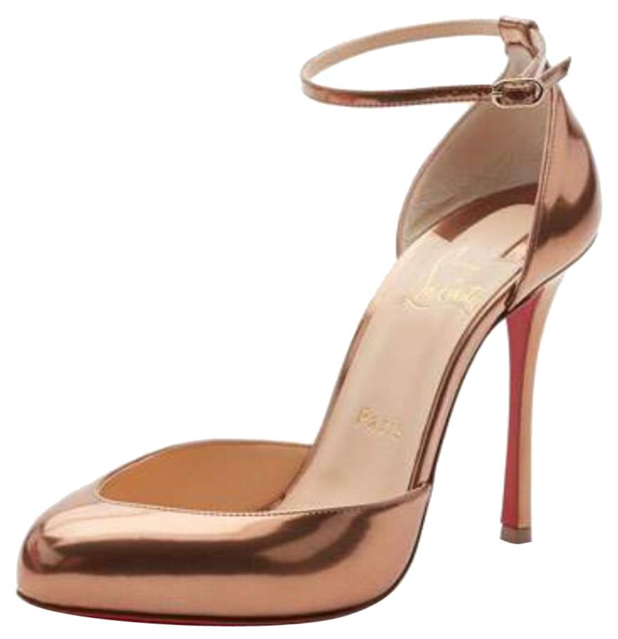 Christian Louboutin Bronze Dollya Cappuccino Patent Stiletto Pumps Size EU 36 (Approx. US 6) Regular (M, B)