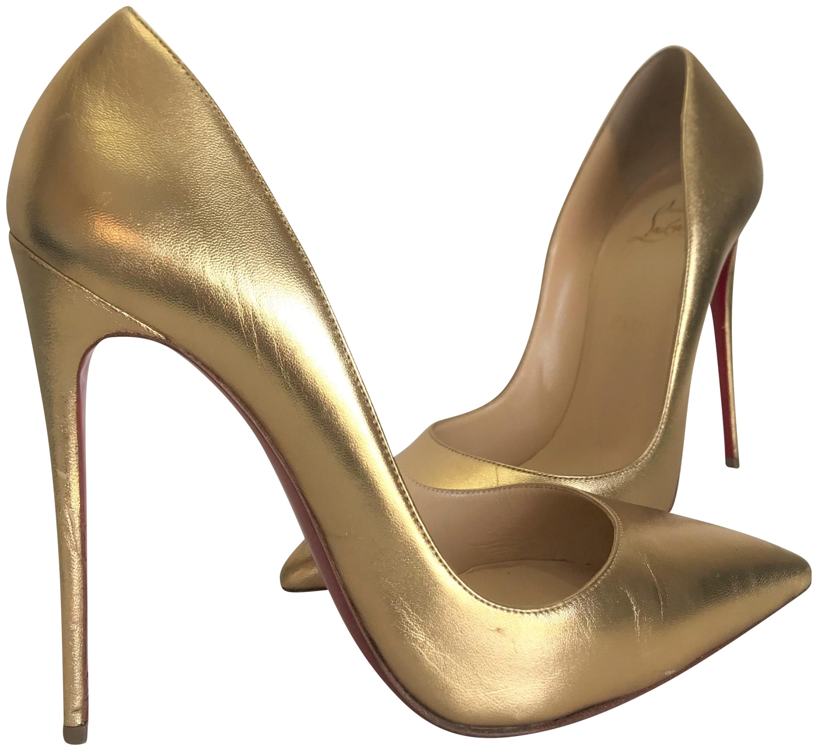 57c03cf00eef ... discount code for christian louboutin bronze specchio so kate pigalle  high heel red sole ankle lady