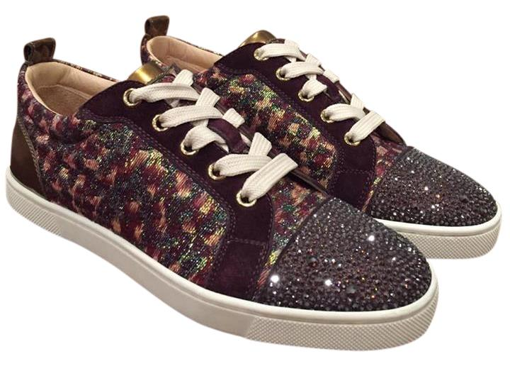 34143177a good christian louboutin gondolastrass strass crystal trainer sneaker brown  athletic 457c4 ac91c
