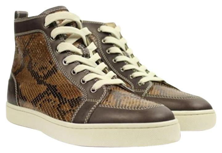 5e85dba0223 Christian Louboutin Brown Rantus Python Louis Lbsty06 Sneakers Size Size  Size US 8.5 Regular (M