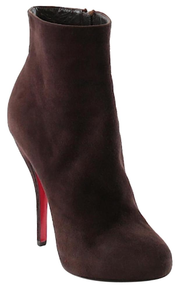 Christian Louboutin Brown Suede Ankle Boots/Booties Size EU 36 (Approx. US 6) Regular (M, B)