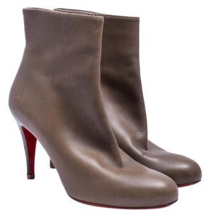 Christian Louboutin Calfskin Leather Taupe Boots