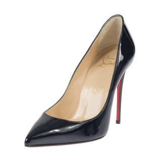 Christian Louboutin Pigalle Follie Navy Blue Patent Leather Pumps