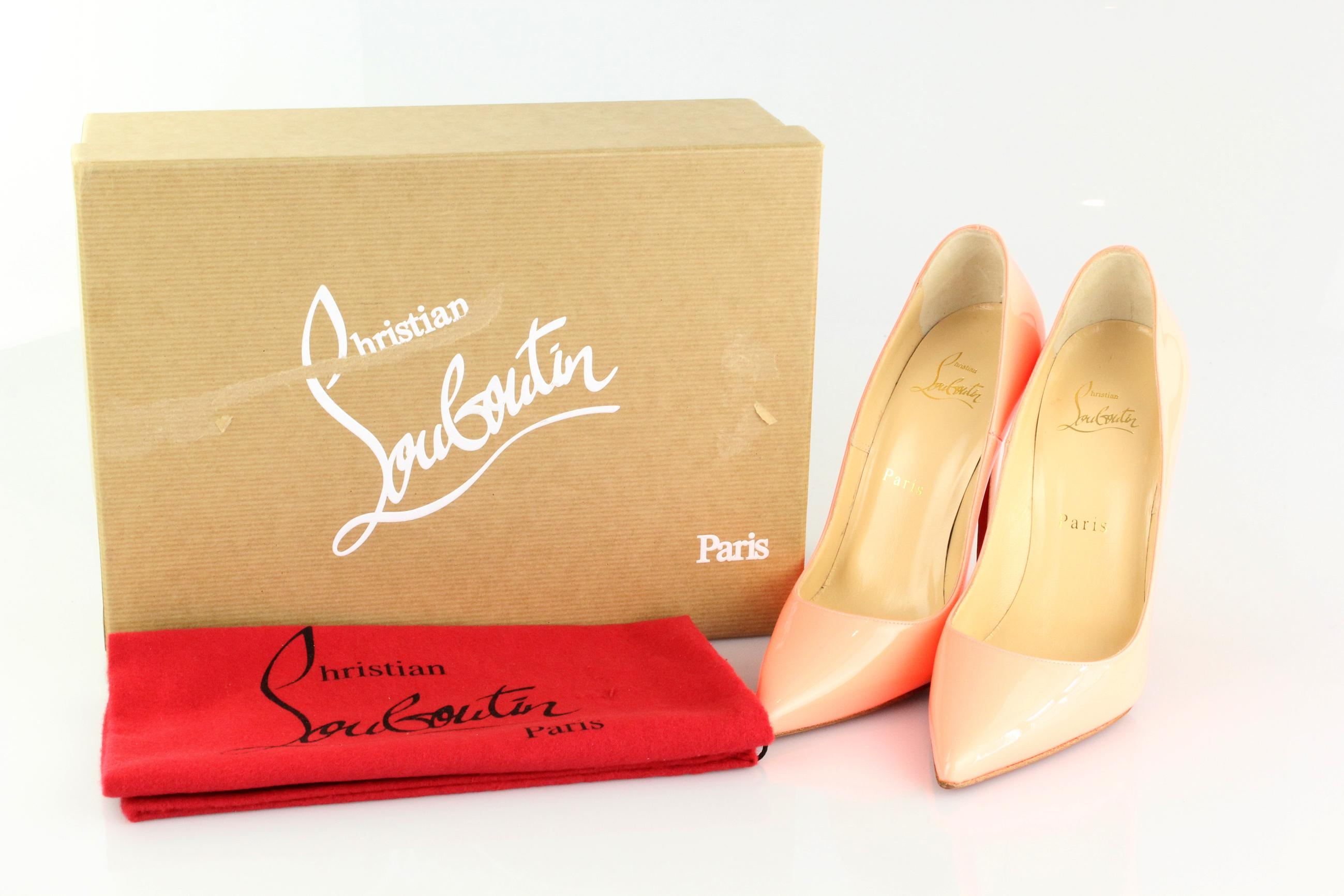 3c91e8945ef Christian Louboutin Flamingo Orange So So So Kate 120 Patent Pumps ...