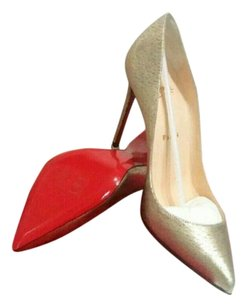 Christian Louboutin Glitter Pigalle Silver Gold .Silver Pumps