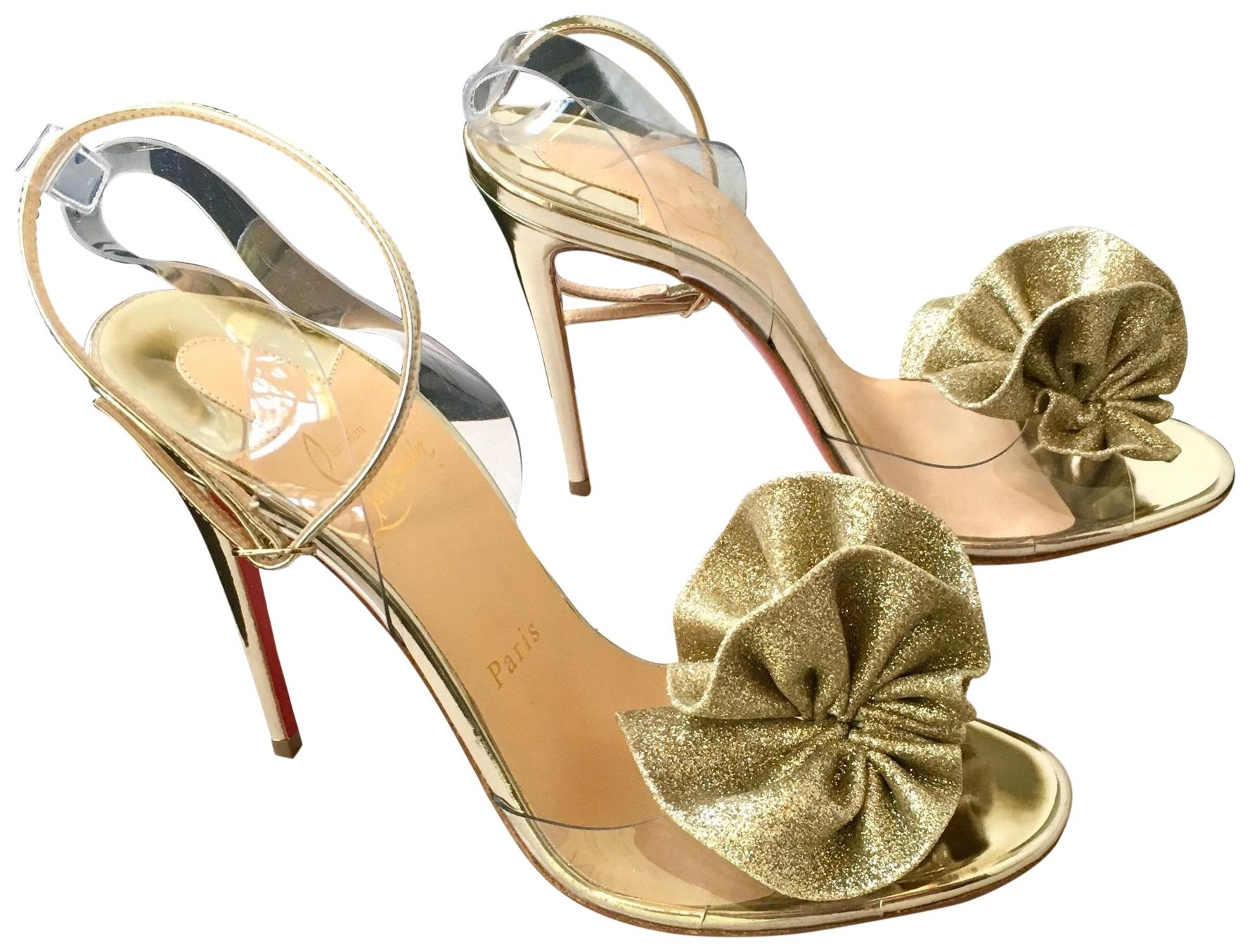 7933b30a595a Christian Louboutin Gold Gold Gold Fossiliza Strap Formal Shoes Size EU 38  (Approx. US 8) Regular (M
