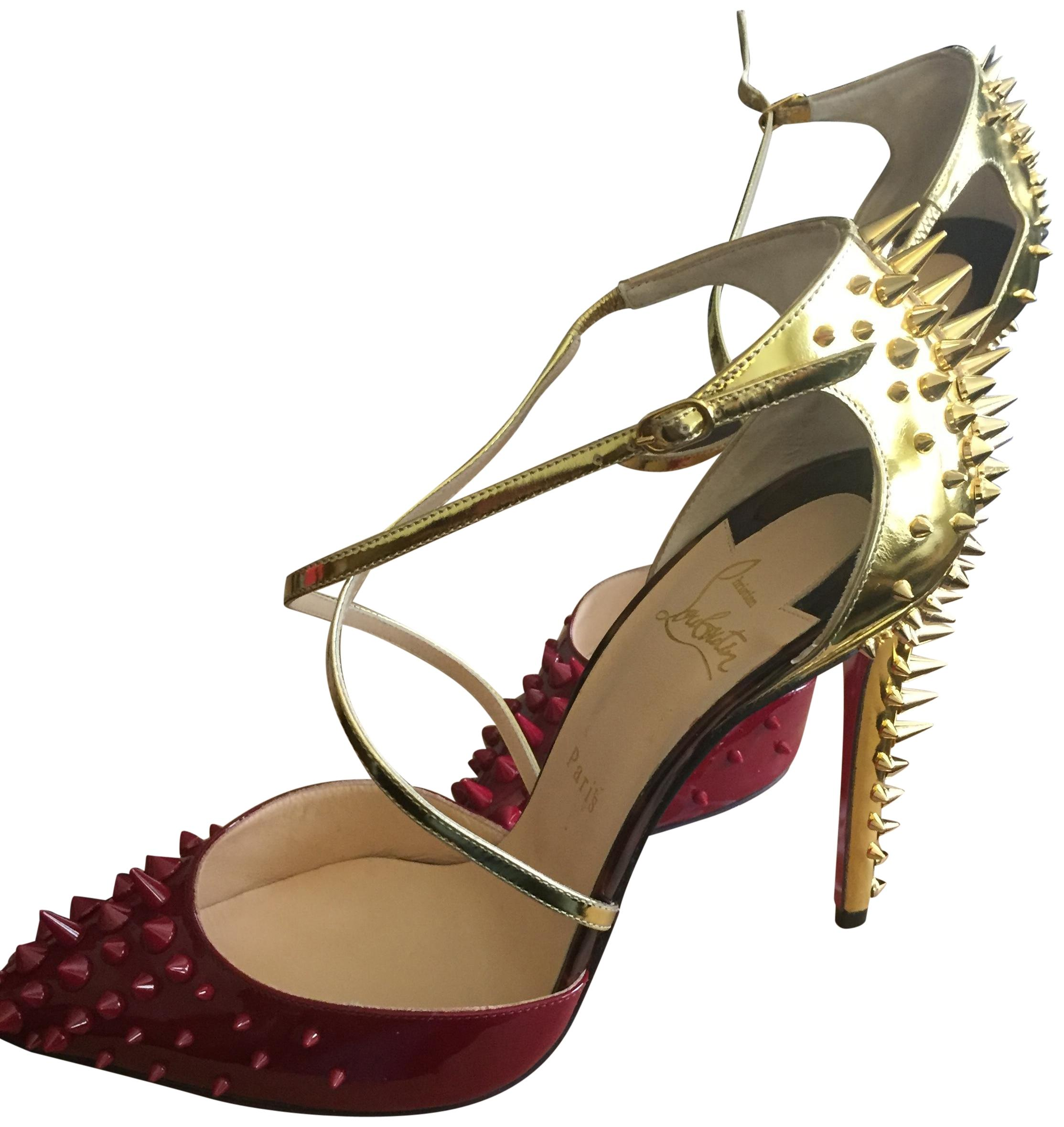 1a05ceae499 Christian Louboutin Gold Goldocross 100 Pumps Size EU EU EU 41 (Approx. US  11) Regular (M