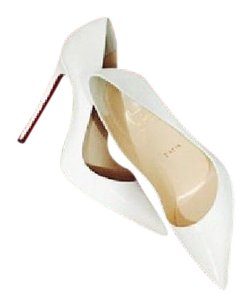 Christian Louboutin Kid Leather So Kate White Pumps