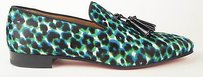 Christian Louboutin Pony Hair Multicolor Leopard Print Loafer Eu 43.5
