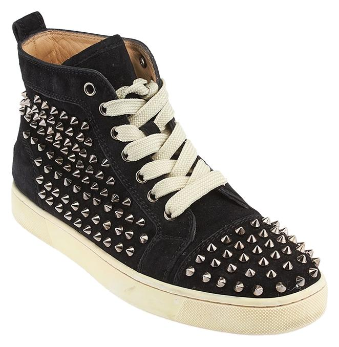 christian louboutin louis spike suede high top sneakers