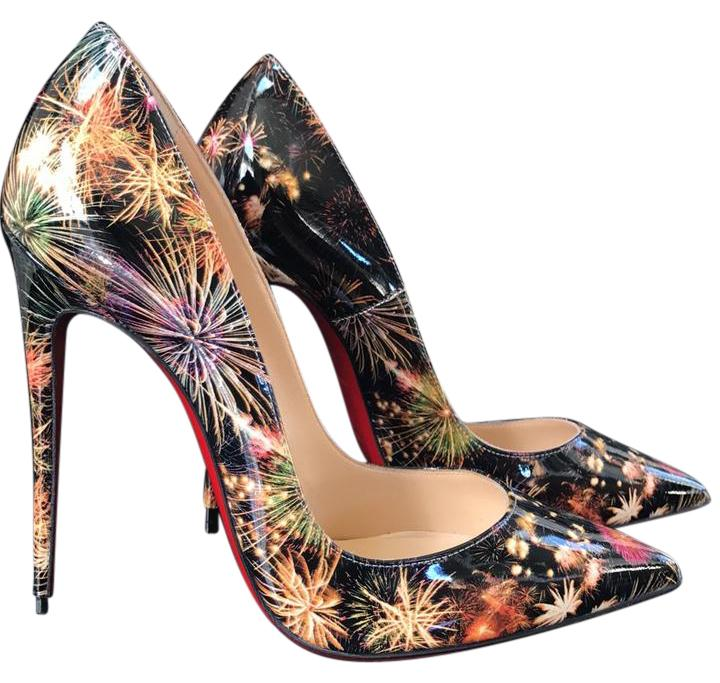 8257813e5c14 Christian Louboutin Multicolor So Kate Kate Kate Fireworks Patent Color  Stiletto Pumps Size EU 37.5 (Approx. US 7.5) Regular (M
