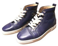Christian Louboutin Navy Blue and White Athletic