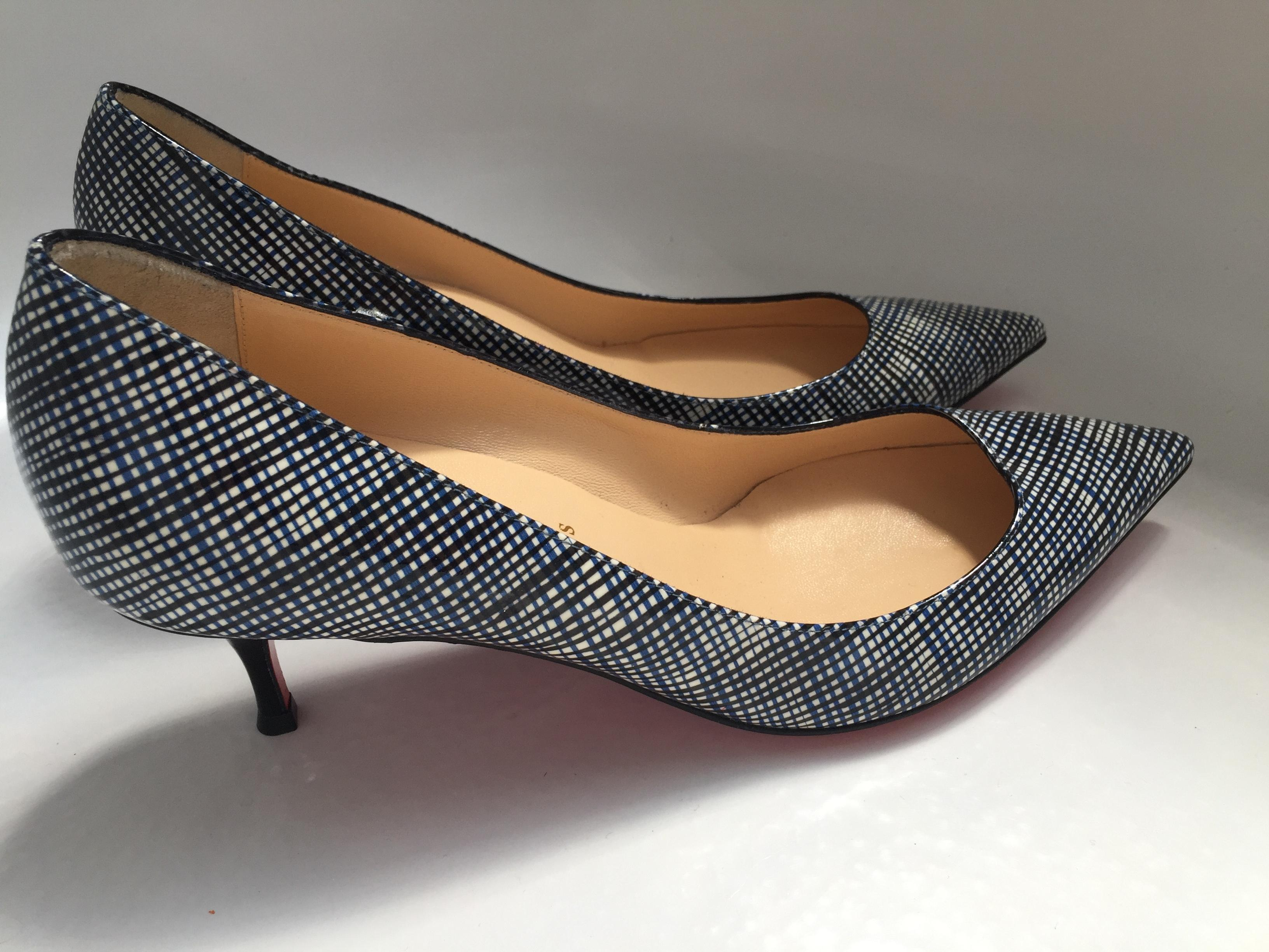 922fe9ca9f9 ... Christian Louboutin Navy Blue Black Pigalle Follies Pumps Pumps Pumps  Size EU 39 (Approx ...