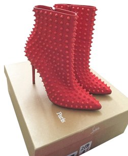 Christian Louboutin Neon Red Boots
