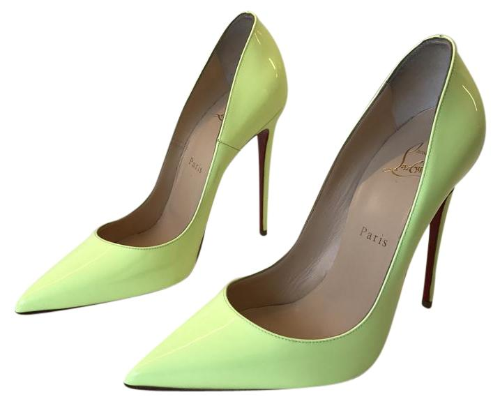 df5c852b4383 Christian Louboutin Neon Yellow So Kate Patent Leather 120 120 120 Pumps  Size US 8.5 Regular