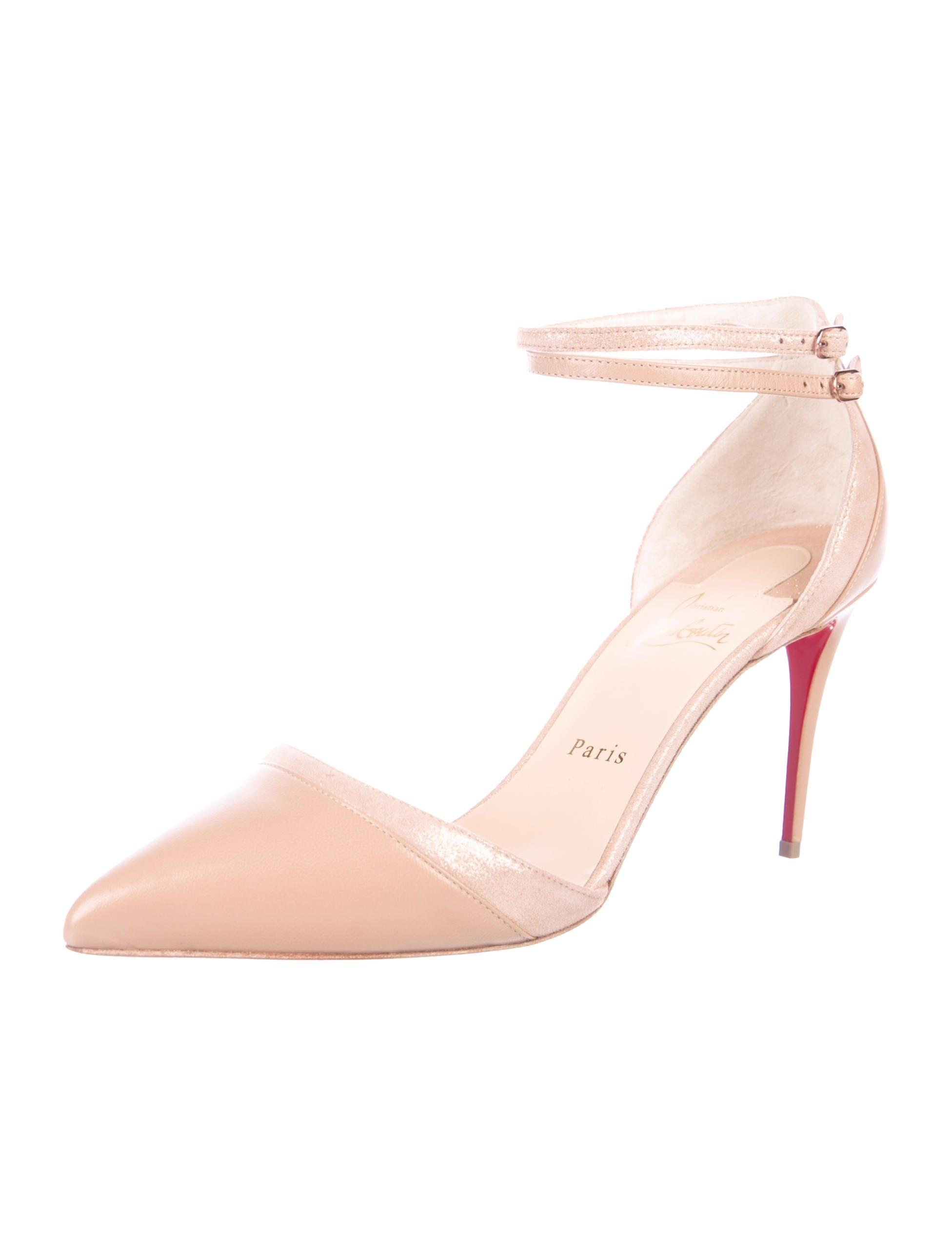 Christian Louboutin New Leather Ankle-strap Pumps Size EU 40.5 (Approx. US 10.5) Regular (M, B)