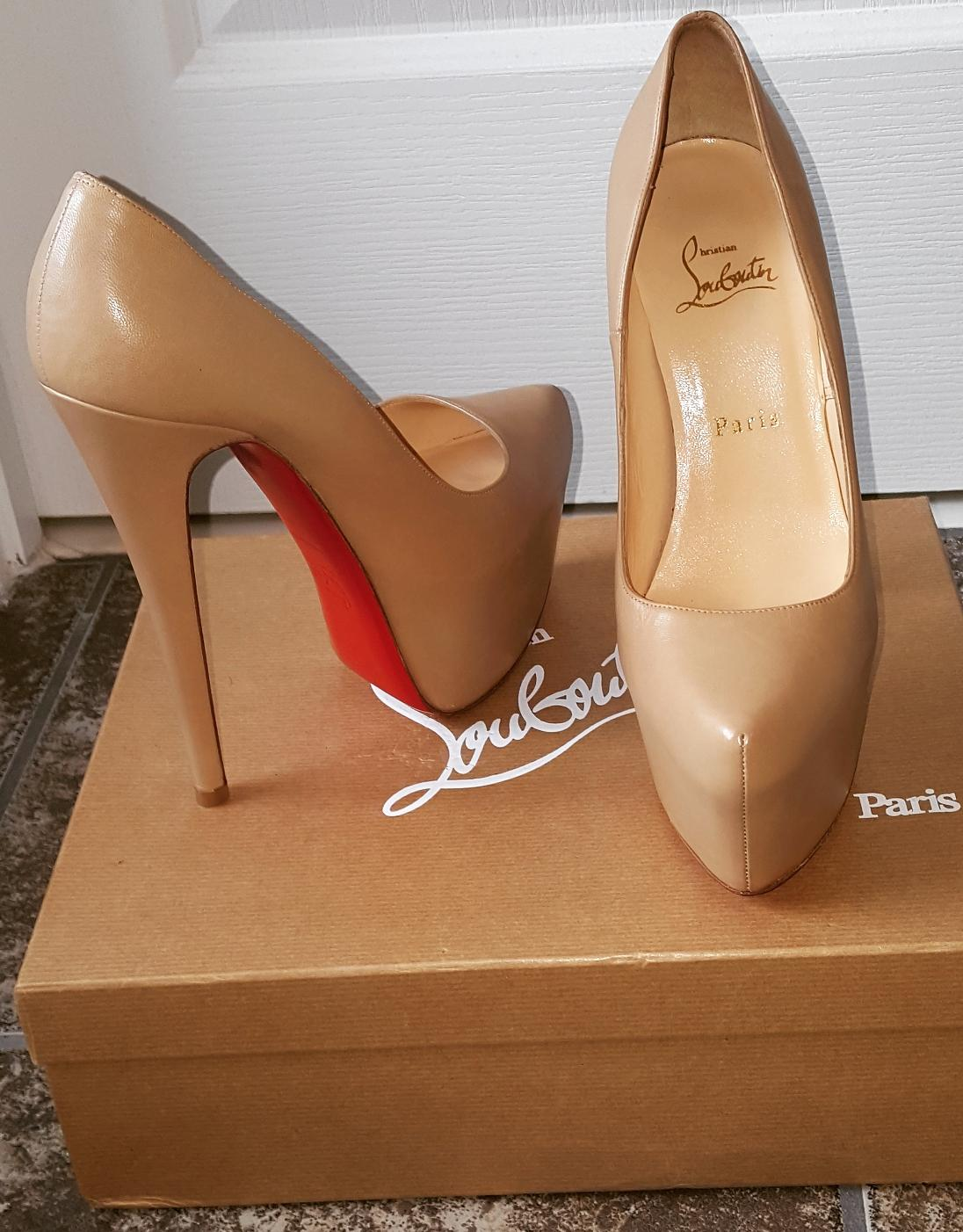 christian louboutin si kate cork blooming - multi - blooming beige nude or stiletto 39,5 pompes 4ebdb6