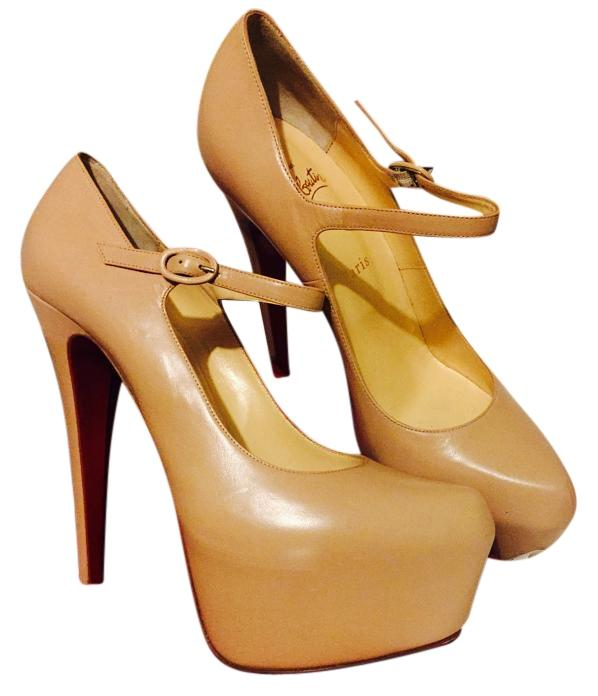 Christian Louboutin Nude In Lady Daf 160 Pump In Nude Kid Leather Platforms Size US 11 Regular (M, B) 81764d