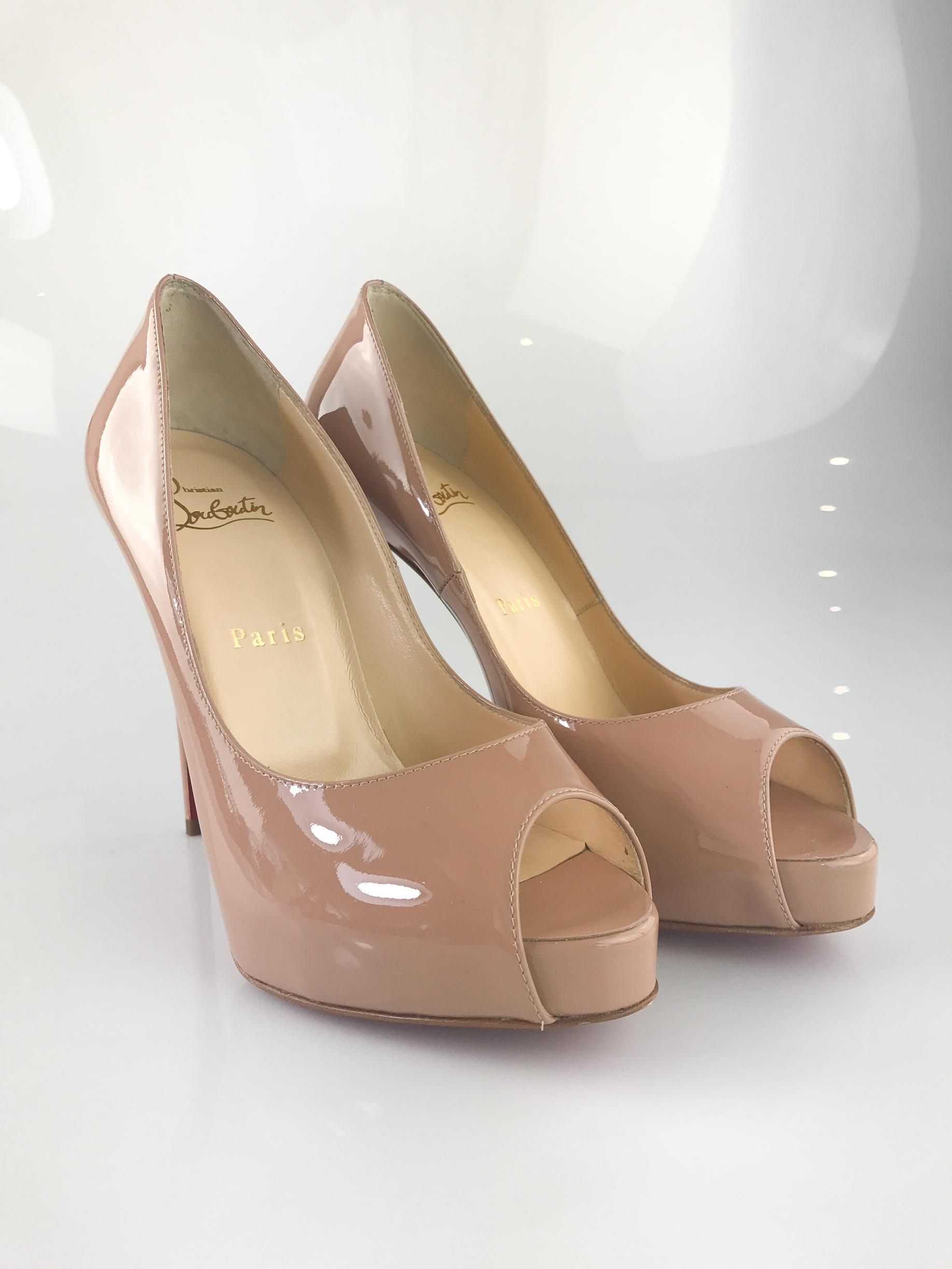 f2316c8fa2bf Christian Louboutin Nude New Very Prive 120 Pumps Size EU EU EU 37 (Approx.