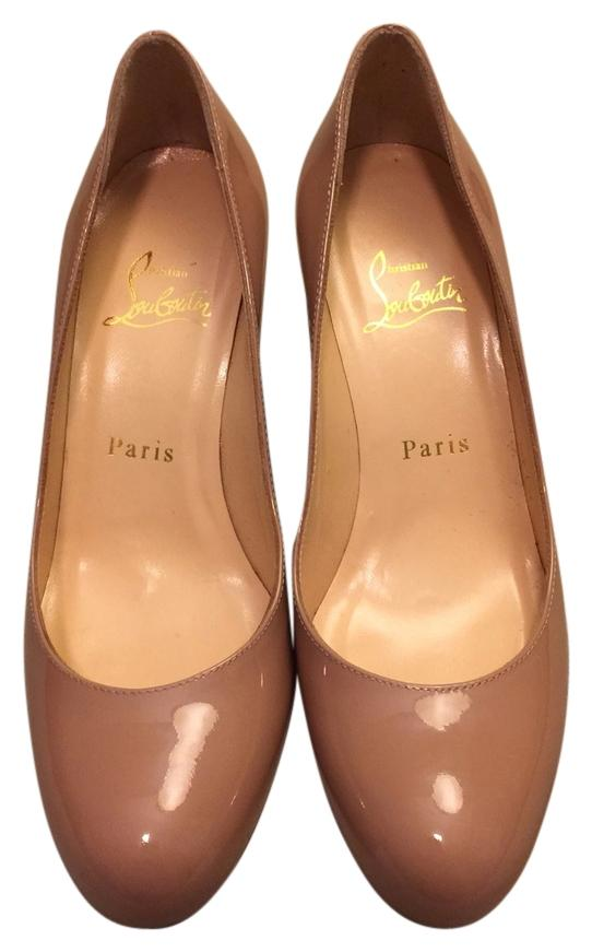 Christian US Louboutin Nude Patent Simple Pumps Size US Christian 6.5 Regular (M, B) ba476f
