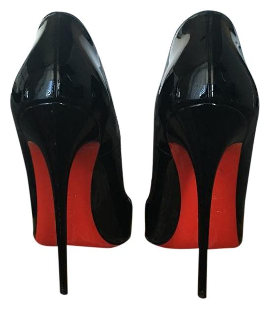 45d2e9f76652 Christian Louboutin Patent Patent Patent Black Leather So Kate Pumps Size  US 7.5 Regular (M