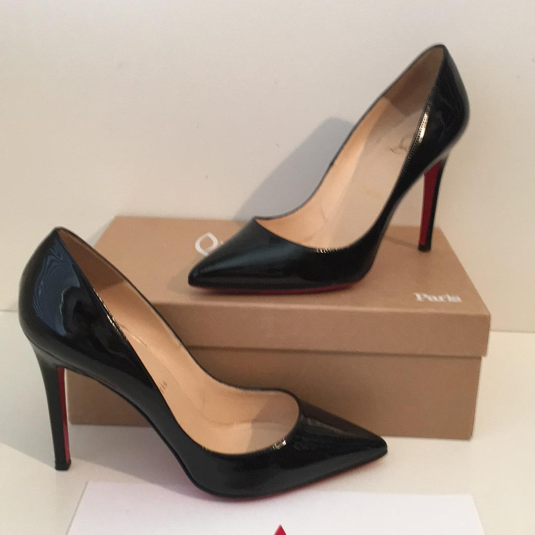 the latest 032b0 acdc2 Christian Louboutin Louboutin Louboutin Pigalle 100 Black ...