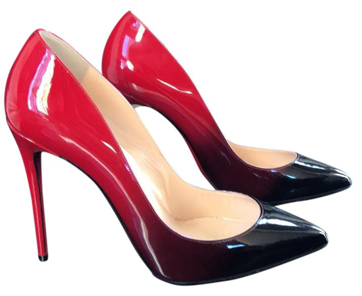 7ac3eb40fea2 Christian Louboutin Pigalle Follies 100 Black Red Patent Degrade Stiletto  Stiletto Stiletto 39 Pumps Size US 9 Regular (M
