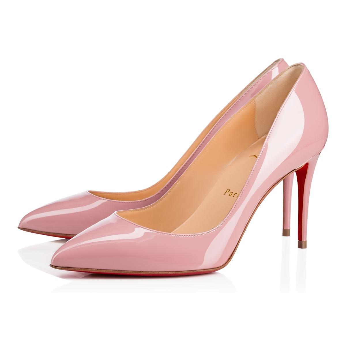 a253313a764a Christian Louboutin Pink Pink Pink Classic Pigalle Follies 85mm Voile Patent  Leather Point-toe Pumps